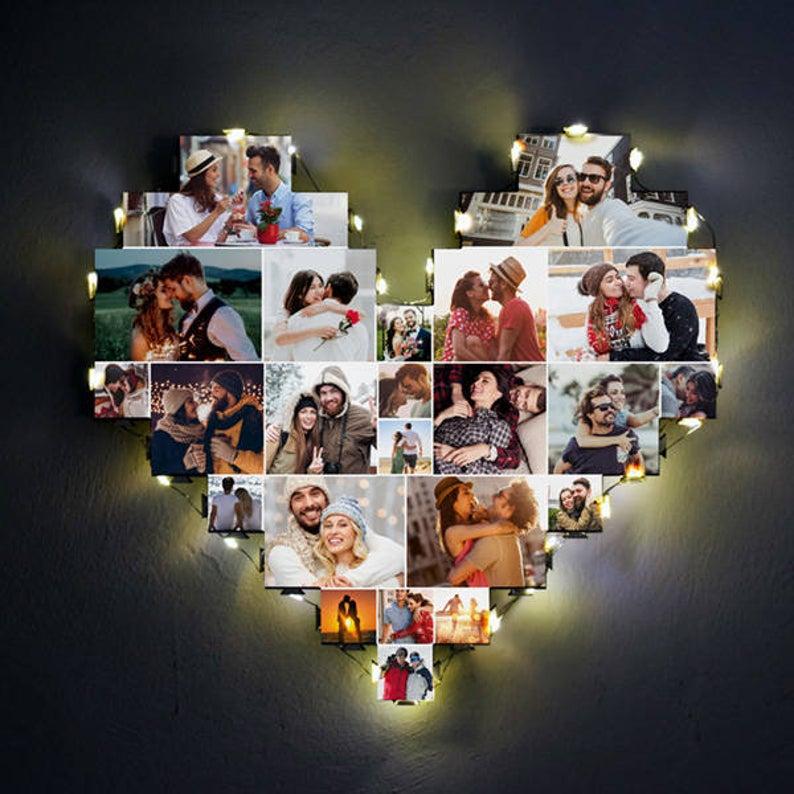 قلب با عکس خاطرات